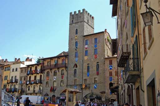 Stadt Arezzo in der Toskana
